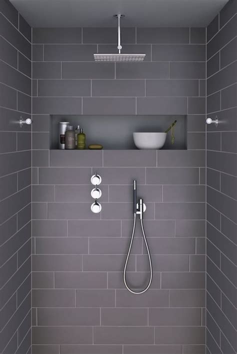 41 cool and eye catchy bathroom shower tile ideas digsdigs picture of large scale chocolate shower tiles