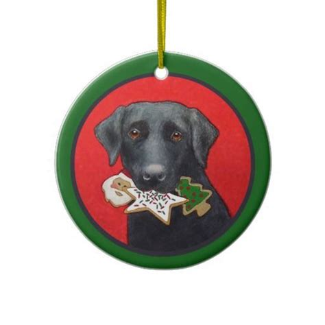 christmas black lab ornament