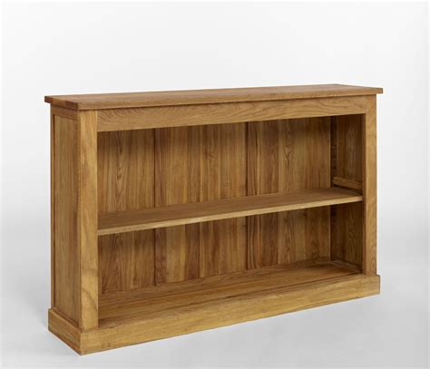 contemporary oak low bookcase