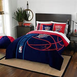Golden State Warriors Bed Set Nba Oklahoma City Thunder Embroidered Comforter Set Bed