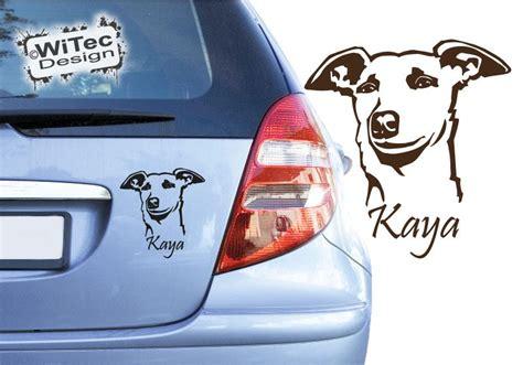 Aufkleber Mit Name Und Adresse by Hundeaufkleber Whippet Name Auto Aufkleber Autoaufkleber Hund