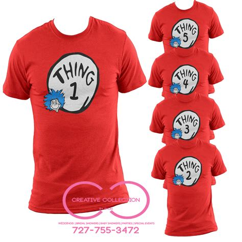 Tshirt The 2 thing 1 2 3 t shirt cat in the hat creative collection