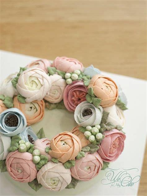 Wreath Style Korean Buttercream 17 best images about buttercream flower idea tutorials on flower cakes and