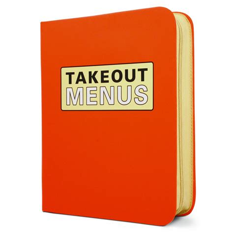 zippered take out menu organizer the green