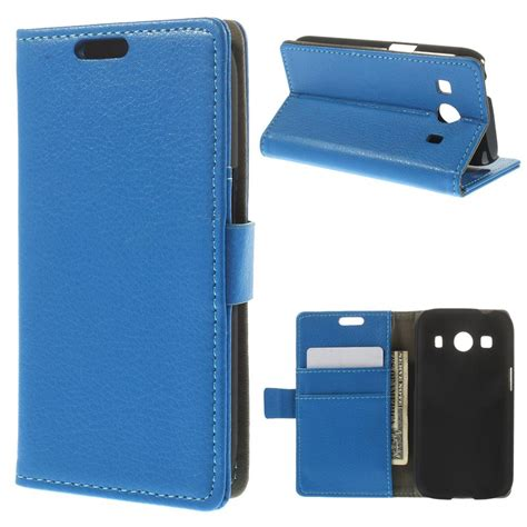 Samsung Galaxy Ace 4 samsung galaxy ace 4 blue litchi wallet