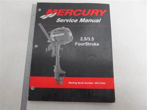 90 899925 Mercury Outboard Service Manual 2 5 Amp 3 5 Hp 4