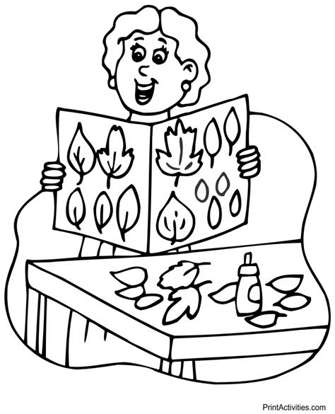 leaf collage coloring page index of coloringpages thanksgiving