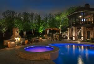 outdoor pool lighting visual aquatics the best in pool and spa lighting