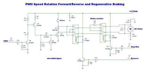 braking resistor circuit diagram pwm speed rotation forard and regenerative braking electronic projects circuits
