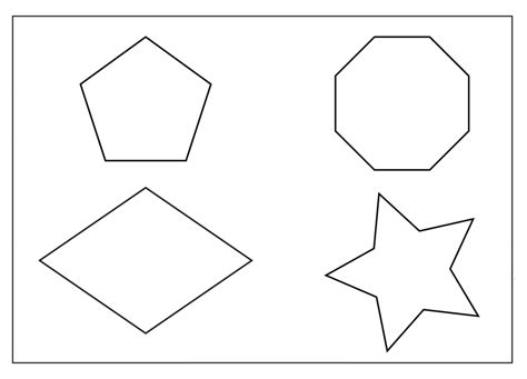 shapes templates free printable shapes coloring pages for