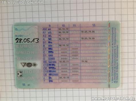 Führerschein Motorrad Erklärung by 206038463 W988 F 252 Hrerschein Erkl 228 Rung Zusatzziffern