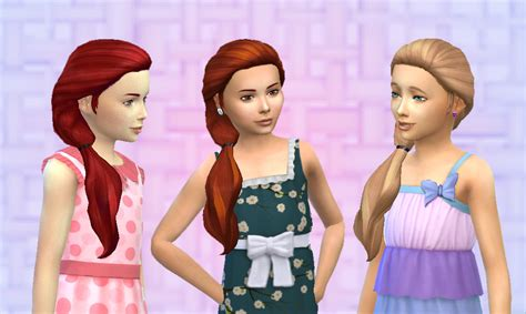 sims 4 kids hair cc i made this hair for women and received several requests
