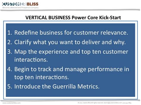 power how to kick in business and books when a vertical business is the power customer bliss