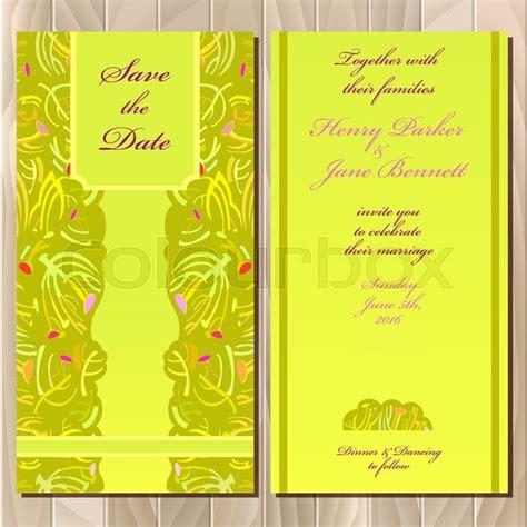 Wedding Invitation Background Yellow by Wedding Invitation Summer Green Yellow Card Design