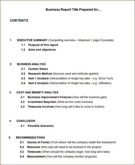 business reporting templates 8 business report exle academic resume template