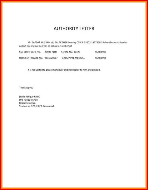 authorization letter format to encash check authorization letter sle check encashment exposition