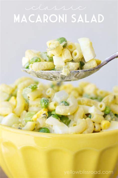 classic pasta salad classic macaroni salad recipe