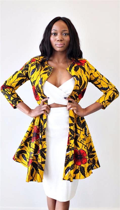 ankara tops and jackets the nairobi ankara jacket dress in golden hibiscus ankara