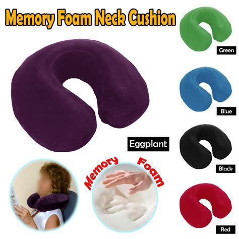 Premium Neck Travel Pillow Bantal Leher Memory Foam Pesawat Travelling memory foam neck travel pillow cushion manchester house