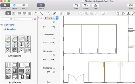 network floor plan creating a network layout floor plan conceptdraw helpdesk