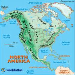 generalities of the americas major landforms of