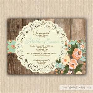 shabby chic baby shower invitations theruntime