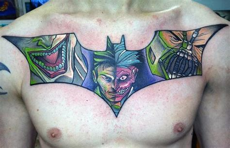 batman chest tattoo 50 bane designs for manly ink ideas