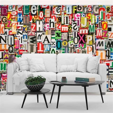 murales lettere murales in vinile collage di lettere