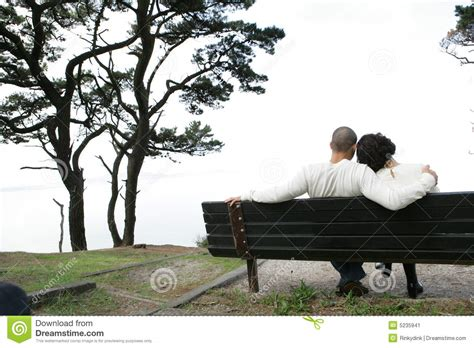 lovers on a park bench lovers on bench stock image image 5235941