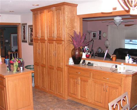 Kitchen With Pantry Cabinet Custom Kitchen Red Oak Kc Wood
