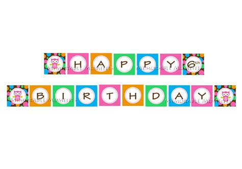 cute happy birthday banner printable 6 best images of happy birthday printable banners signs