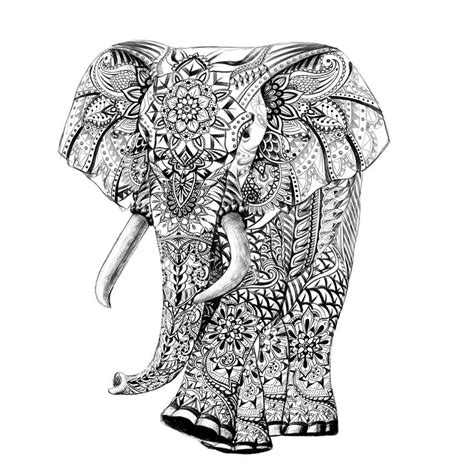 elephant coloring pages aztec designs elephant drawing detail pattern pen drawing sketch