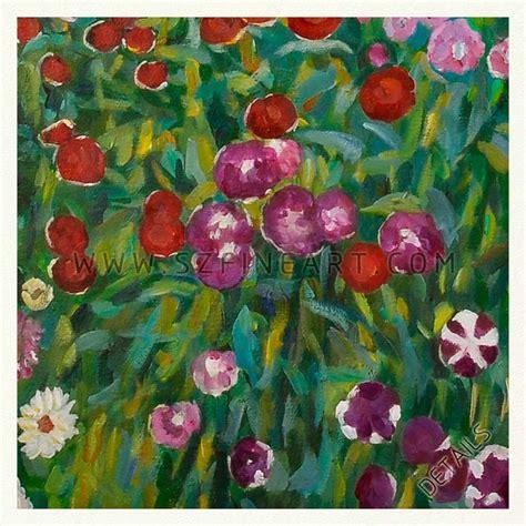 gustav klimt flower garden flower garden 100 handmade painting canvas