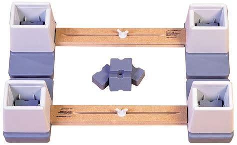 bed raiser linked double bed raiser risers 2 x riser set wooden metal
