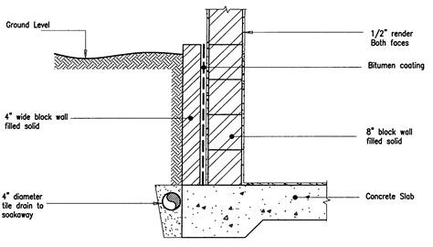 block section retaining wall detail detail drawings pinterest