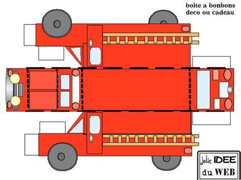 station vehicle templates print fold firetruck firefighter
