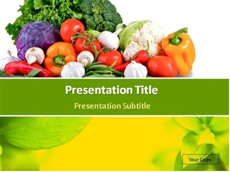 Nutrition Powerpoint Template Download Fresh Vegetables Mix And Green Background Powerpoint Nutrition Powerpoint Template