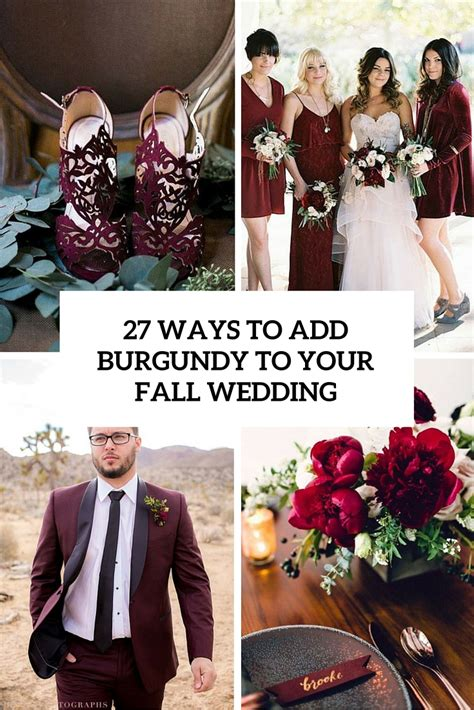 Red And Purple Home Decor 27 ways to add burgundy to your fall wedding weddingomania