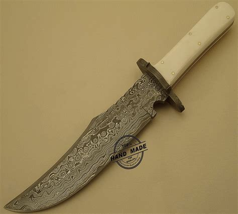 Handmade Bowie Knives - new damascus bowie knife custom handmade damascus steel