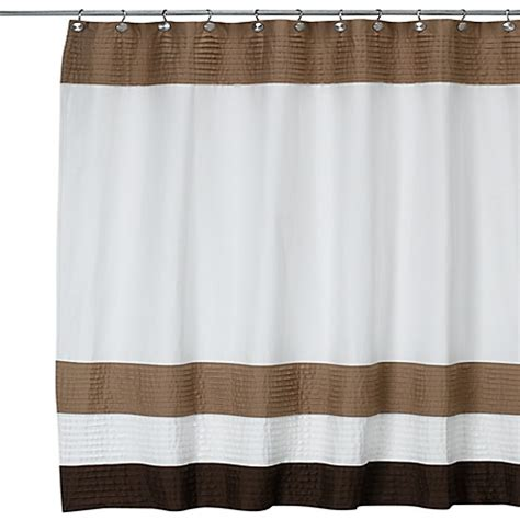 dkny shower curtain dkny color block cafe 72 inch w x 72 inch l fabric shower