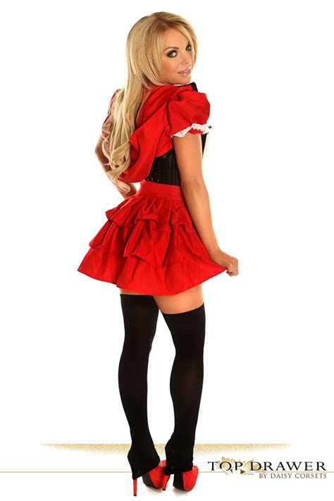 little red riding hood corset halloween costume