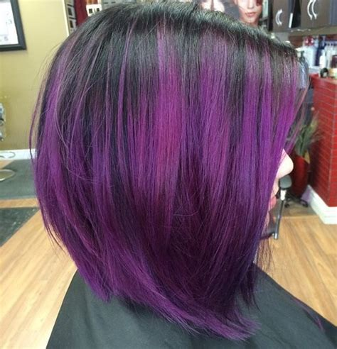 Purple And Black Hairstyles by Purple Ombre Hair Ideas Plum Lilac Lavender And Violet