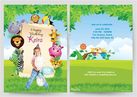 1st Birthday Card Template Word by Birthday Invitation Cards My Birthday