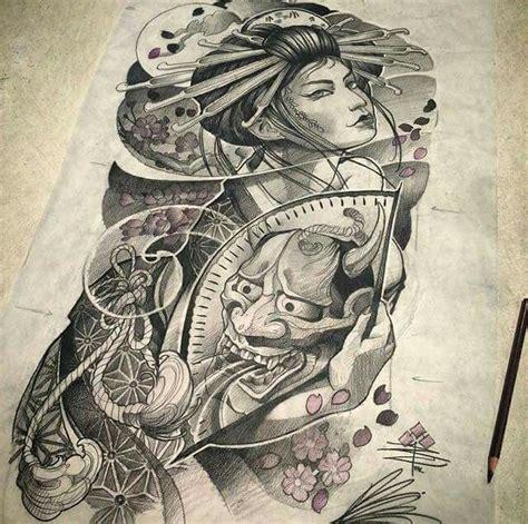 revista tattoo oriental 25 melhores ideias de tatuagem gueixa japonesa no