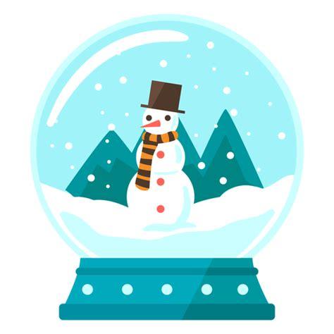 snowman scene snow globe transparent png svg vector file