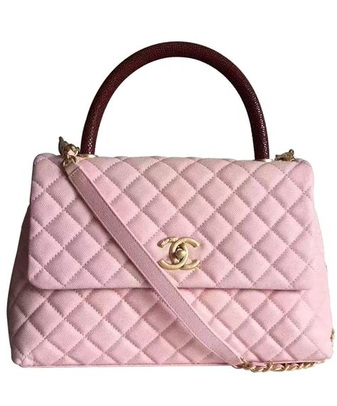 chanel coco grained calfskin size large 32 chanel coco grained calfskin flap bag with lizard handle