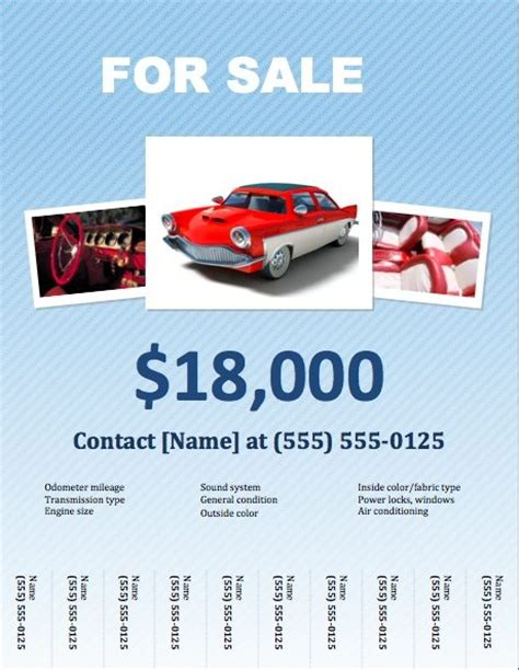 for sale template car for sale flyer template for pages free iwork templates