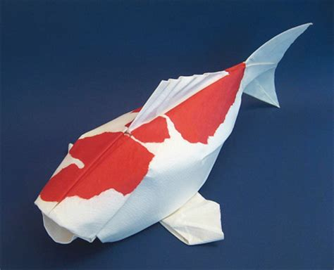 Origami Puffer Fish - paper animals