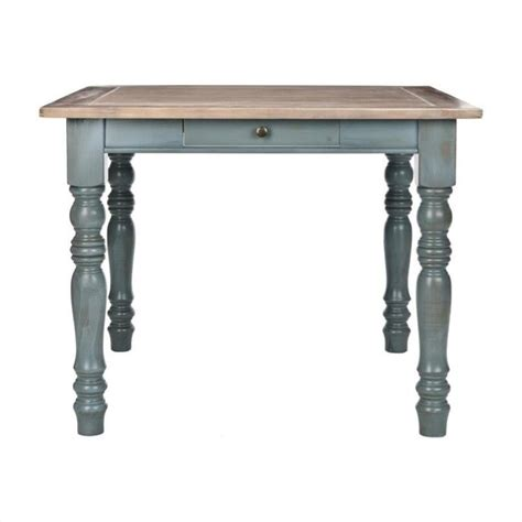 Pine Wood Dining Table Safavieh Lena Pine Wood Dining Table In Pale Blue And Light Oak Amh6556a
