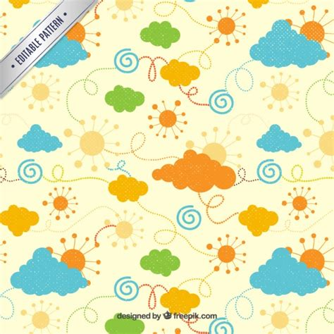 weather pattern image weather pattern in colorful style vector free download